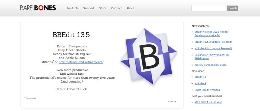BBEdit landing page