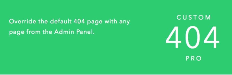 Custom four zero four plugin landing page
