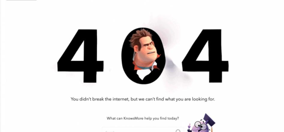 Disney page not found
