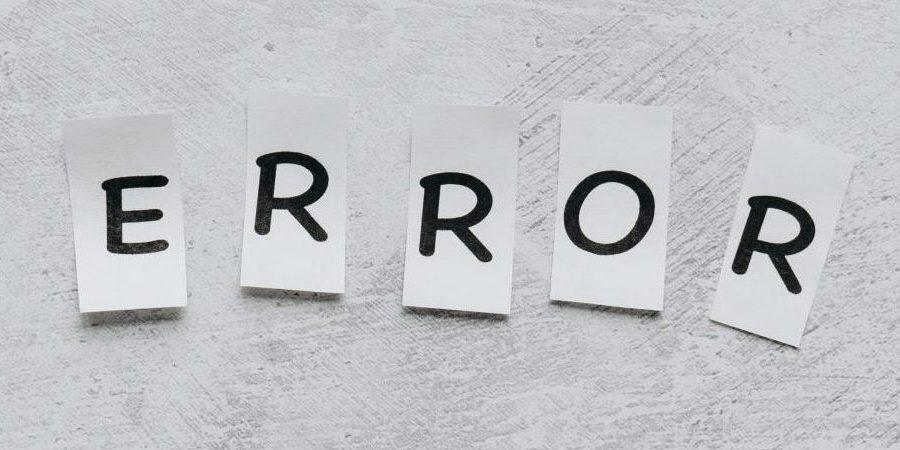 Error cut-out word