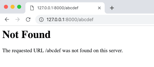 Not found page default