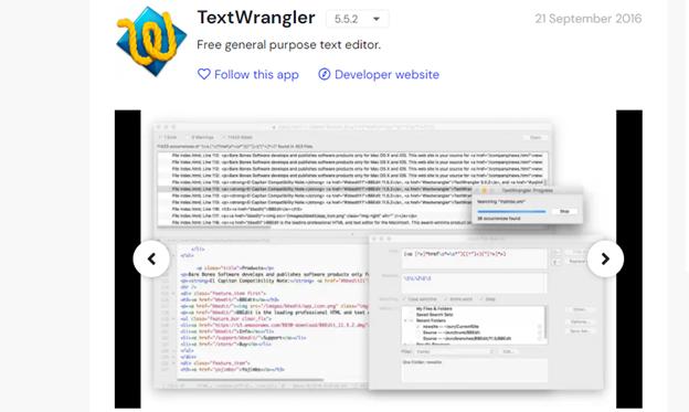 TextWrangler landing page