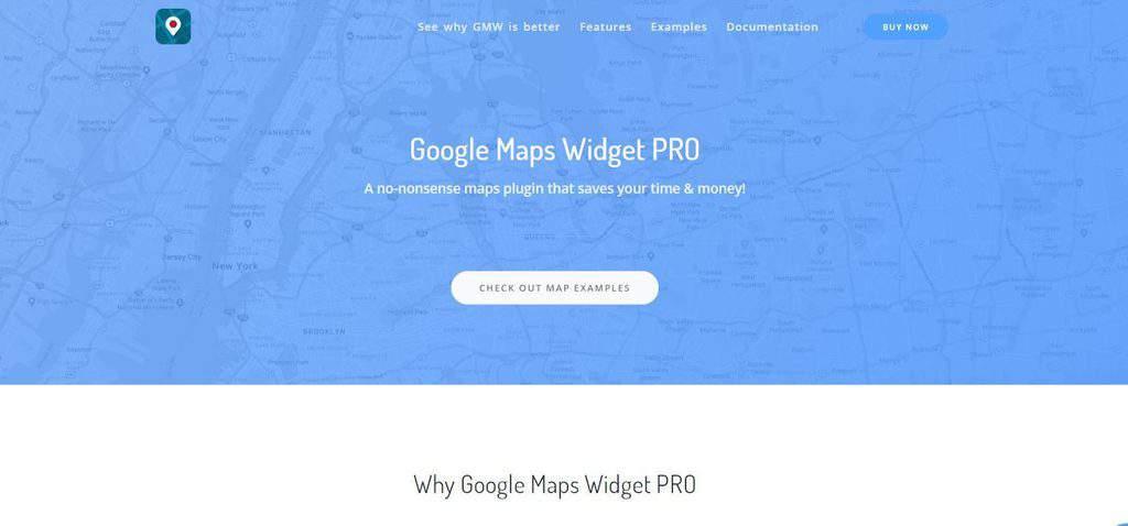 G Maps Widget homepage