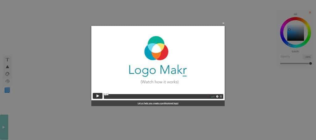 LogoMakr homepage
