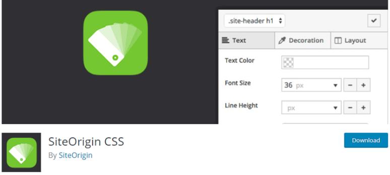SiteOrigin CSS landing page
