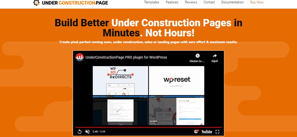 UnderConstructionPage landing page