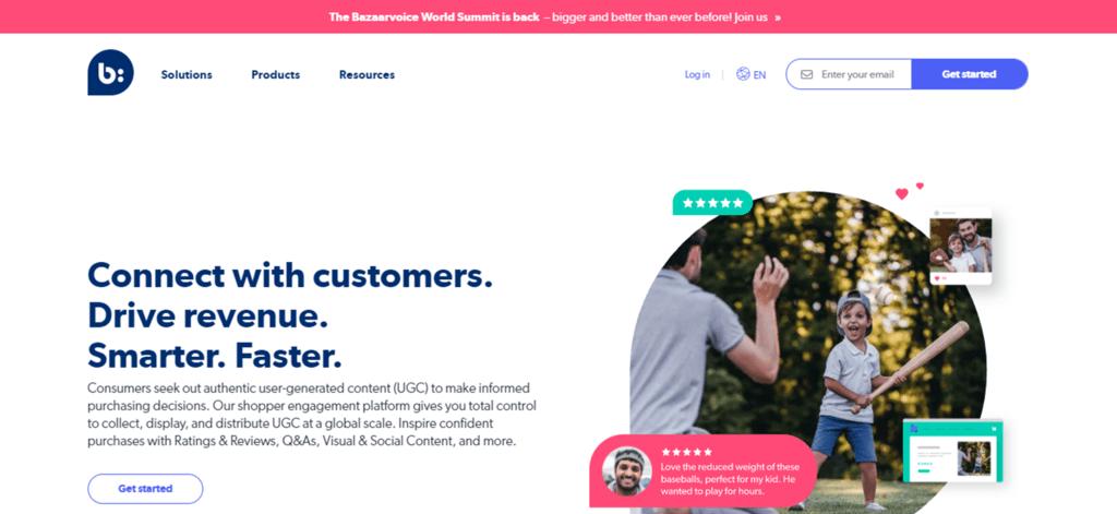 Bazaarvoice homepage