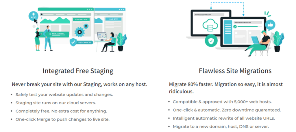 BlogVault staging and migration