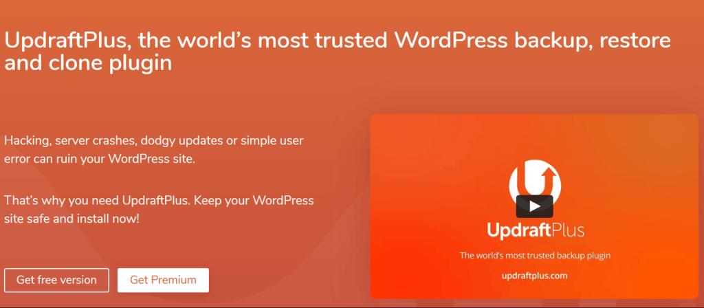 UpdraftPlus homepage