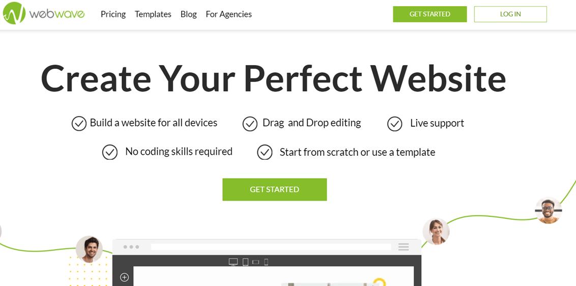 WebWave homepage