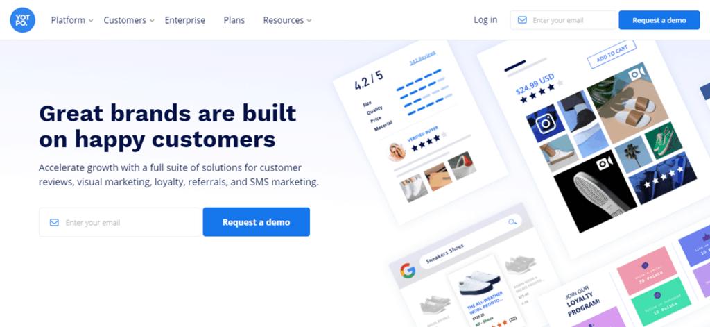 Yotpo homepage