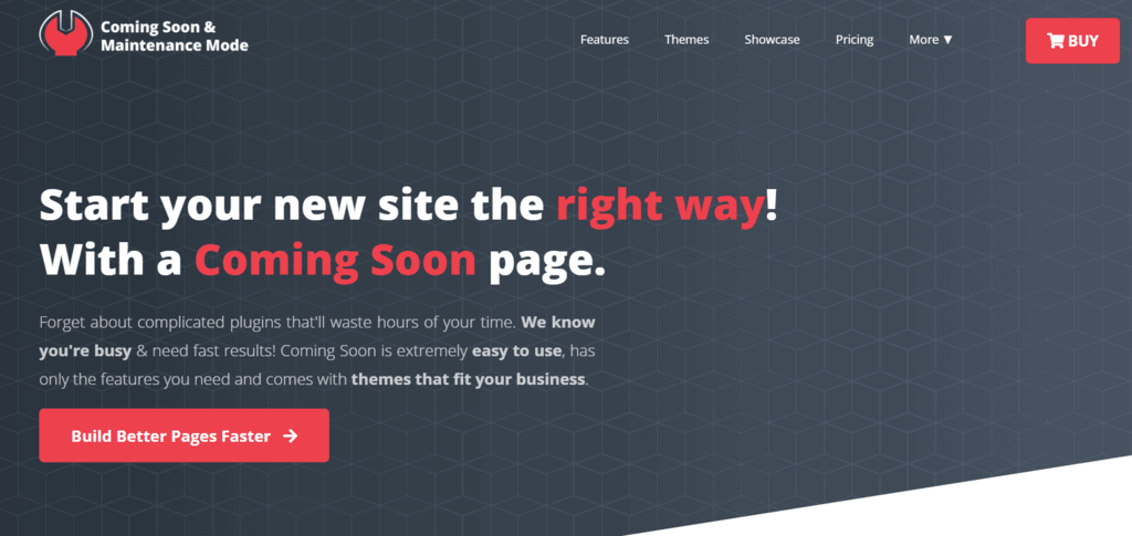 Coming Soon and Maintenence Mode homepage