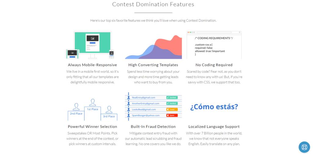 Contest Domiation features