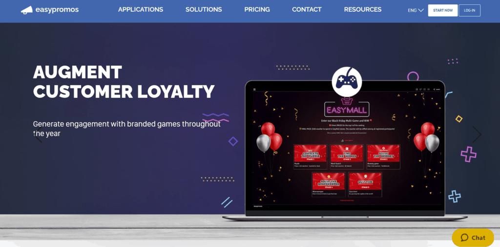 Easypromos homepage