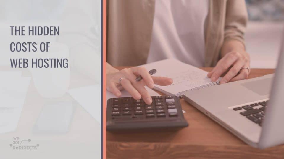 Hidden costs of web hosting