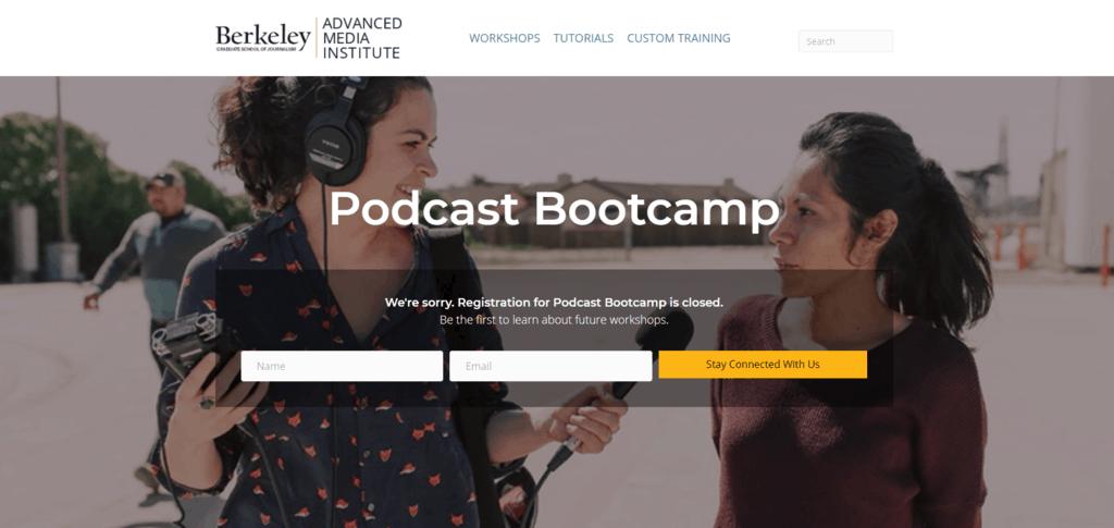 Podcast Bootcamp website