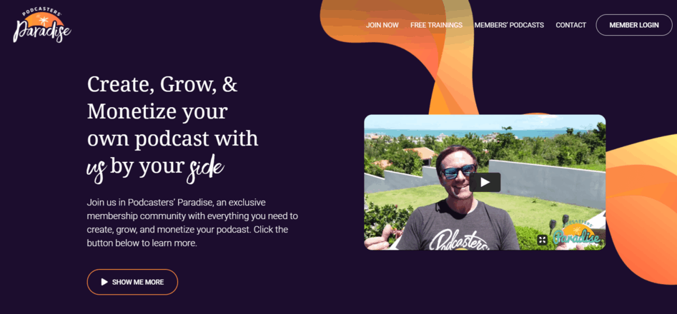 Podcasters Paradise website