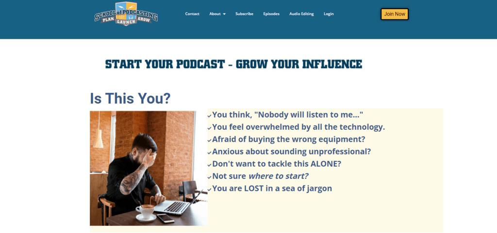School of Podcasting website