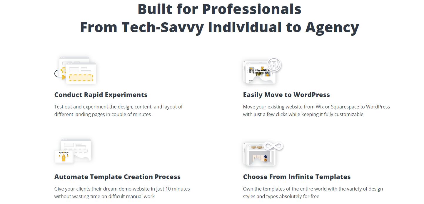 Web AI Builder features