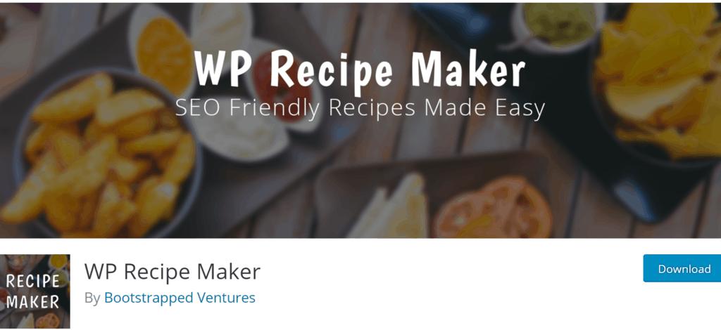WP Recipe Maker banner