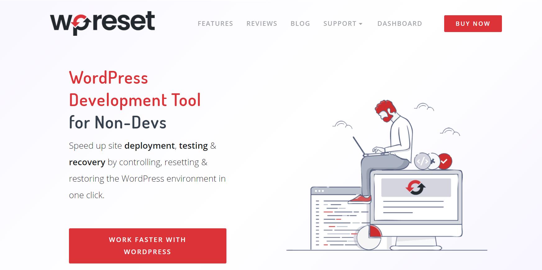 WP Reset homepage