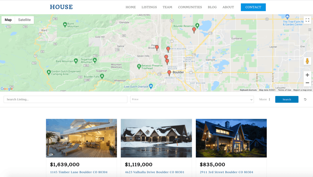 WPRealEstate search interface