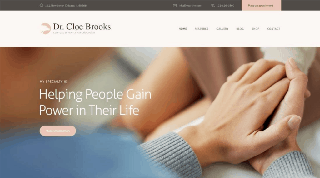 Cloe Brooks website