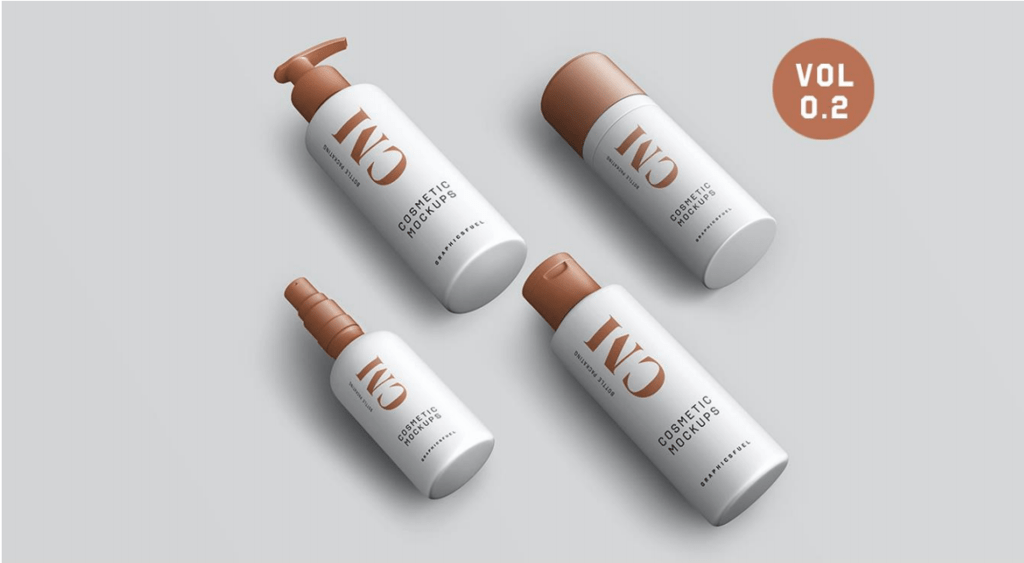 Cosmetic Product Bottle Mockups website