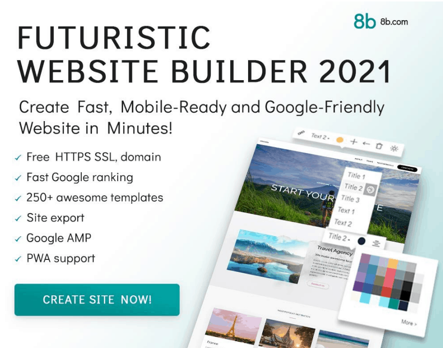 8b Website Builder website