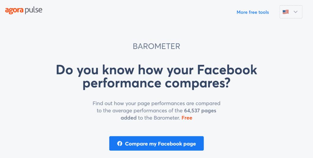 Facebook Barometar homepage