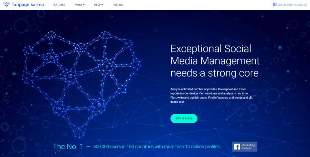 Fanpage Karma homepage