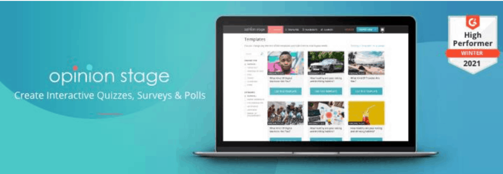 Opinion Stage Polls website