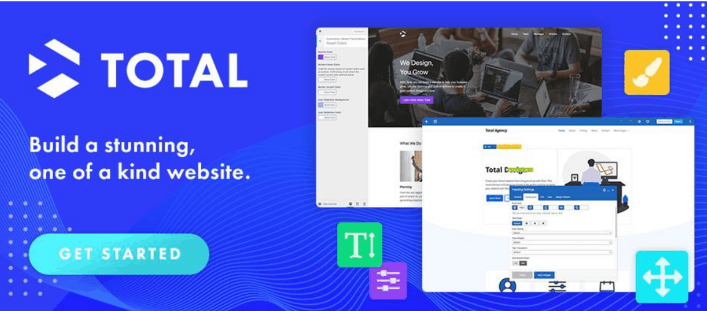 Total WordPress Theme website