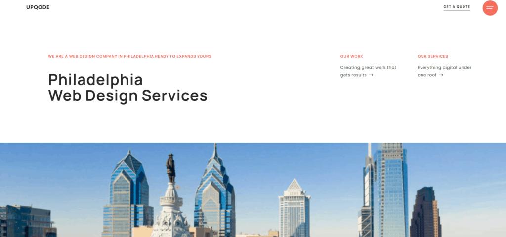 UPQODE homepage