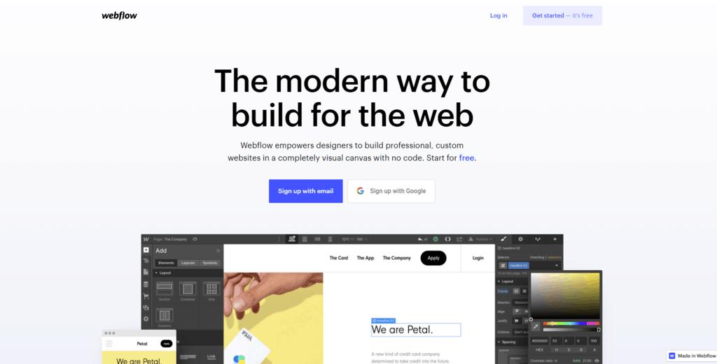 Webflow homepage