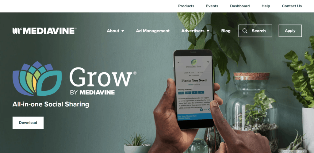 Grow By Mediavine homepage