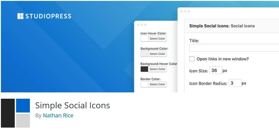 Simple Social Icons banner