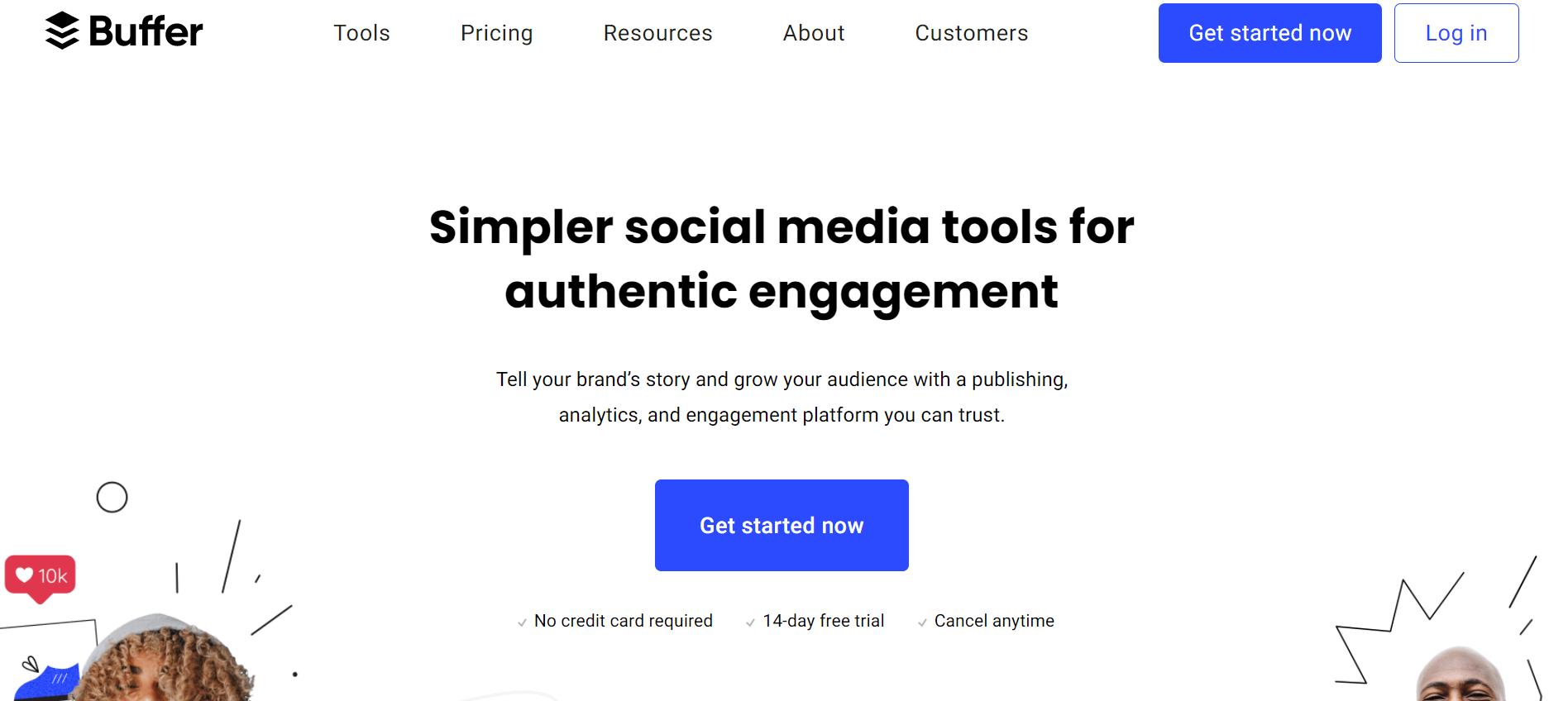 Buffer homepage