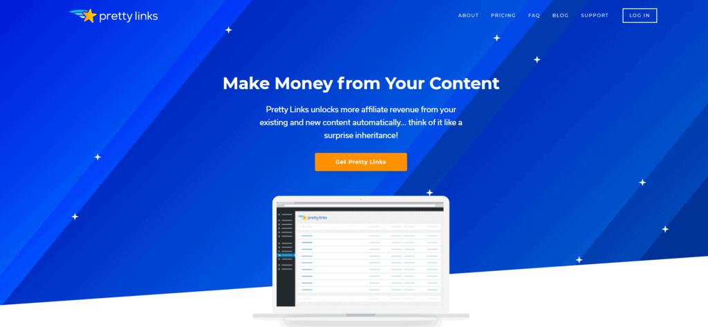 Pretty Links homepage