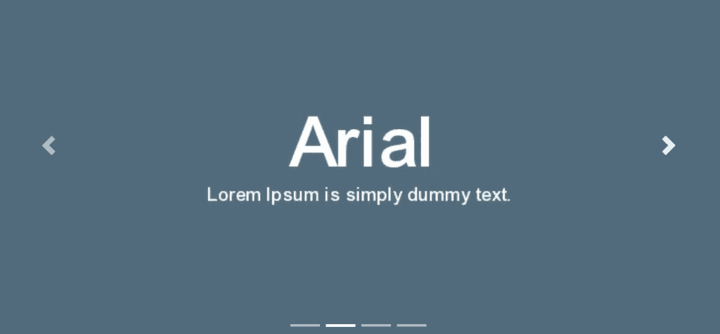 Arial example
