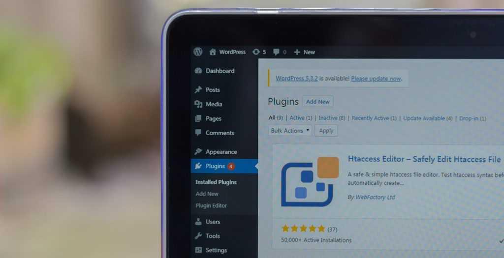 WordPRess dashboard showing a plugin