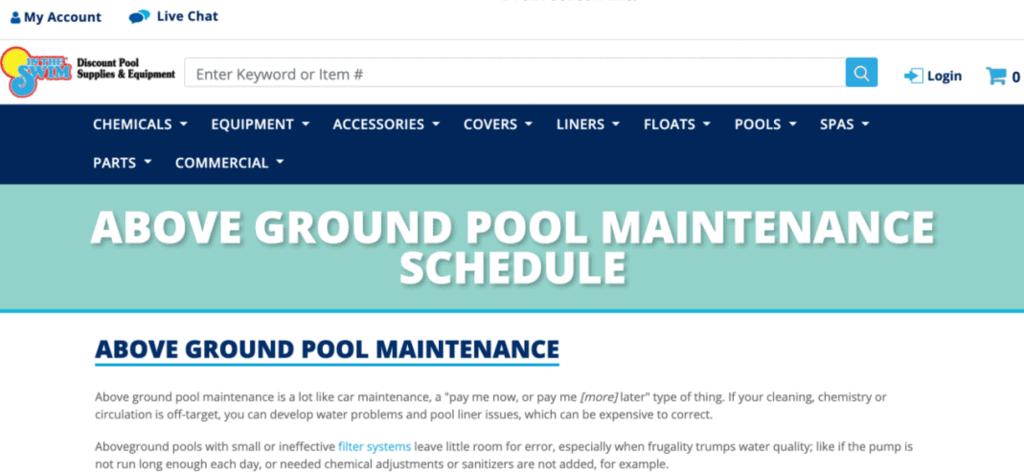 Discount Pool website