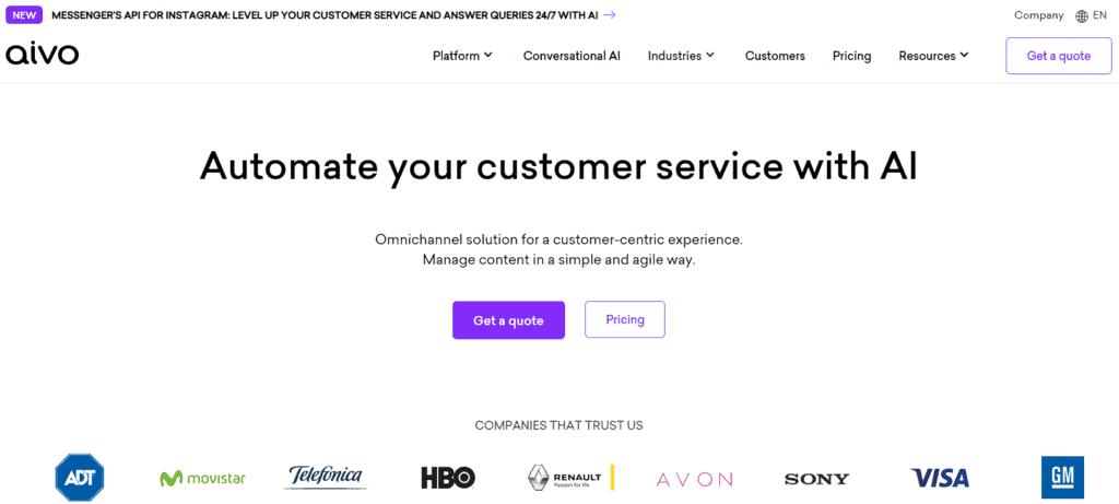 Aivo homepage