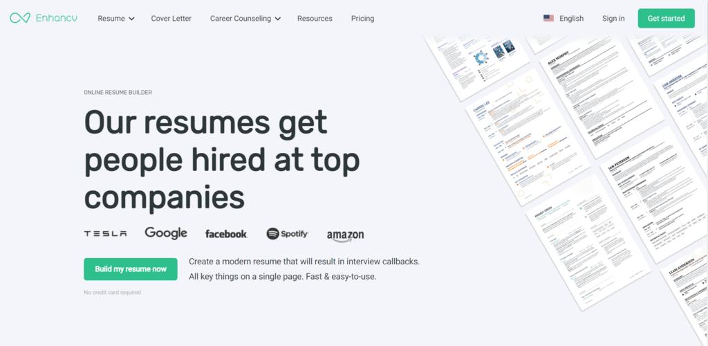 Enhance CV homepage