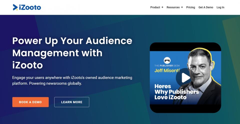 iZooto homepage