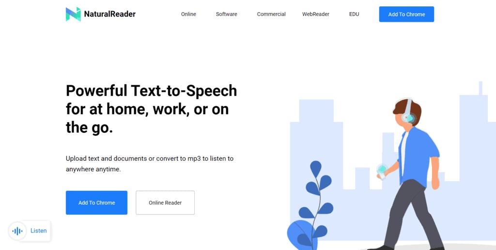 NaturalReader homepage
