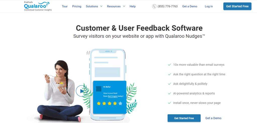 Qualaroo homepage