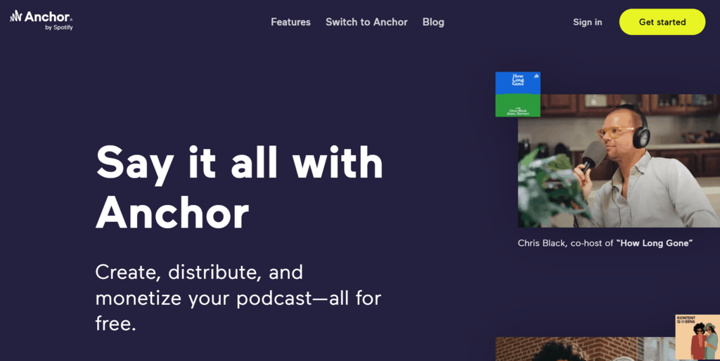 Anchor homepage