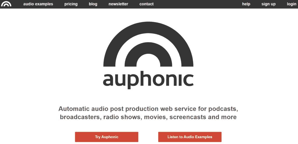 Auphonic homepage